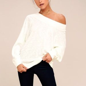 NWT Free People Palisades off the shoulder ivory M